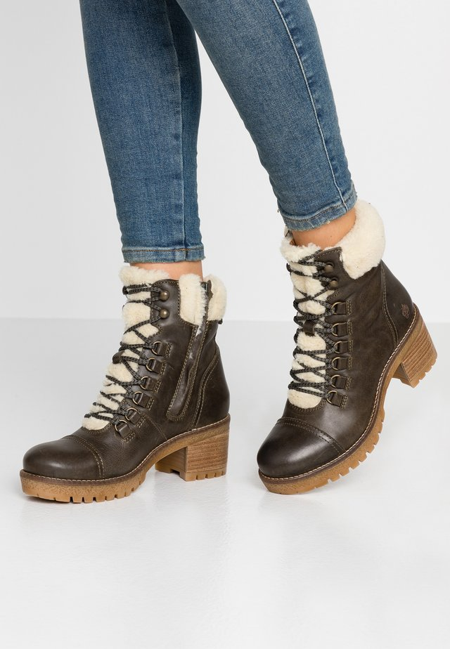 AMELIE - Lace-up ankle boots - khaki