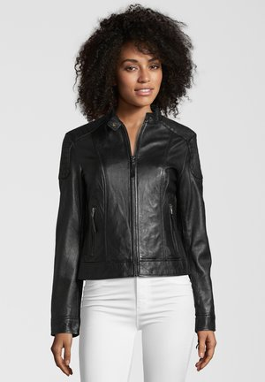 CREAM - Leather jacket - black