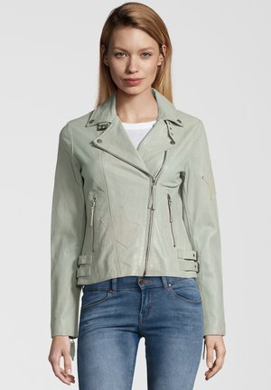 LEDERJACKE CRACKER - Leather jacket - mint