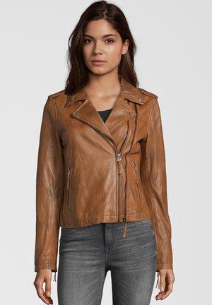 COOKIE - Leather jacket - cognac