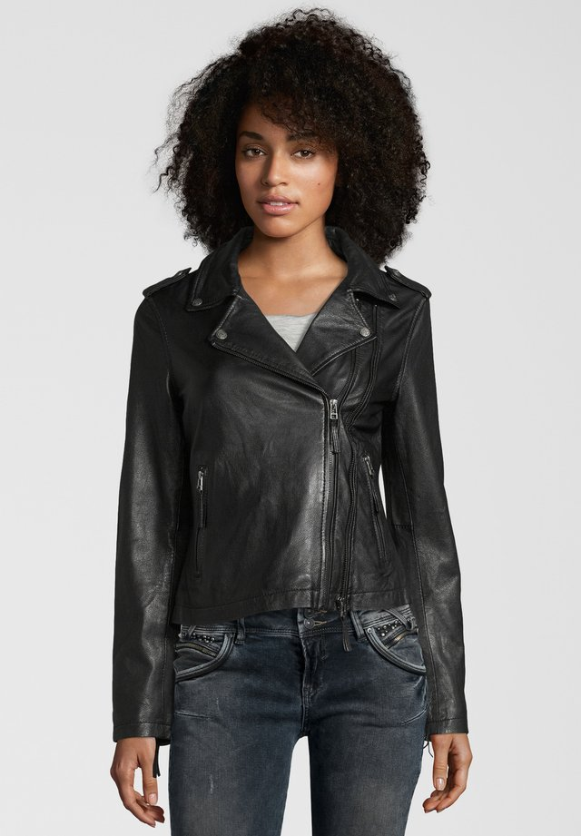 COOKIE - Veste en cuir - black