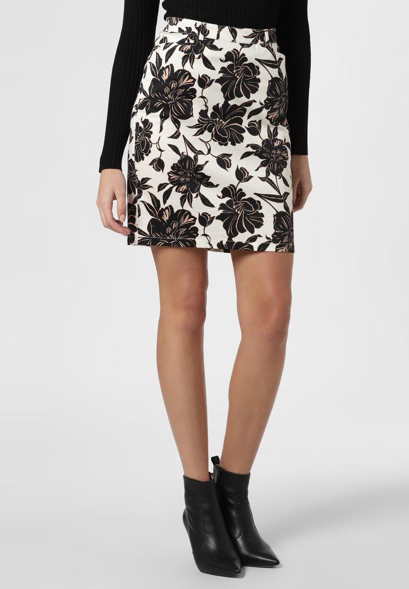 Apriori - Pencil skirt - ecru/black