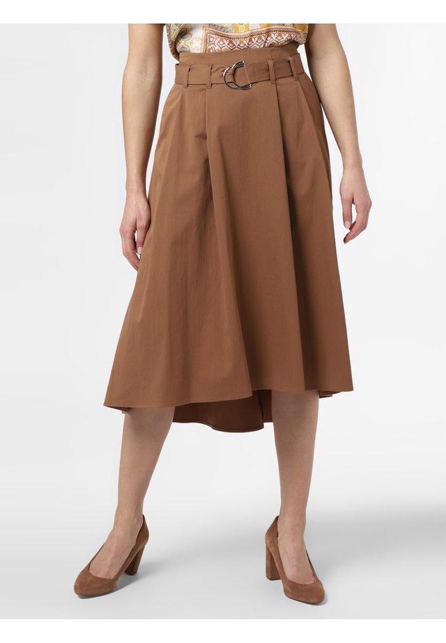 A-line skirt - cognac