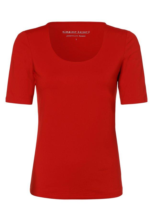 APRIORI - Basic T-shirt - rot