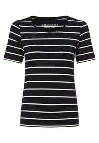 Apriori - Print T-shirt - marine weiß - 0
