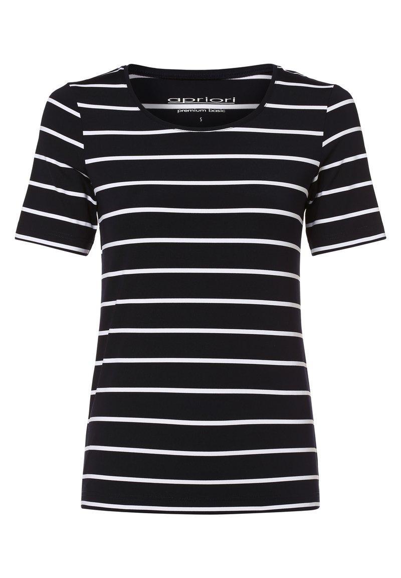 Apriori - Print T-shirt - marine weiß