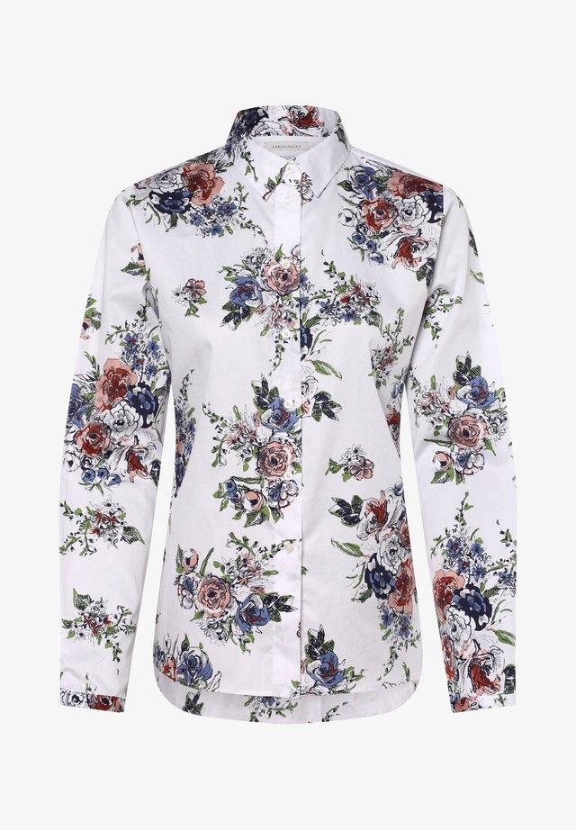 Button-down blouse - white/blue