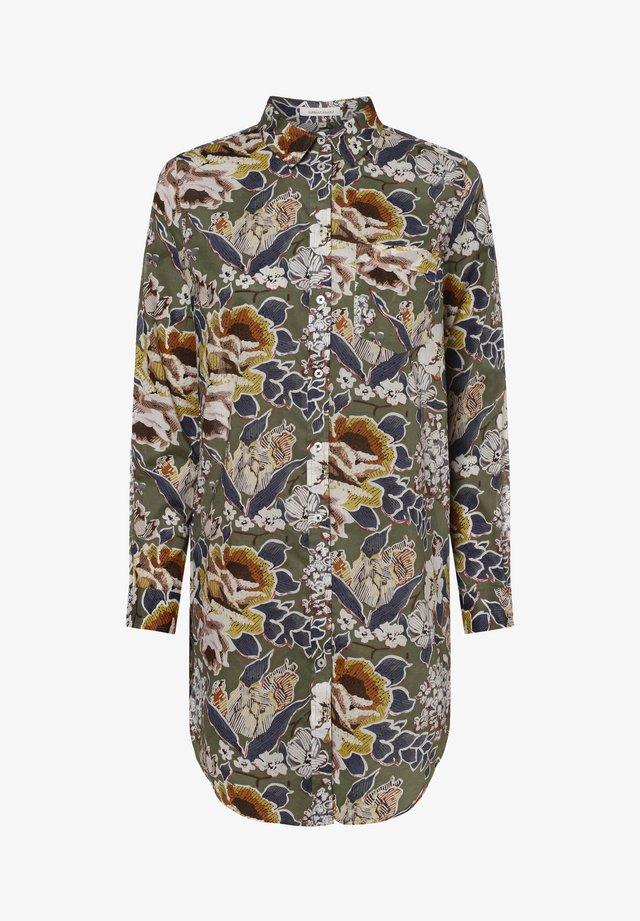 APRIORI  - Button-down blouse - khaki weiß