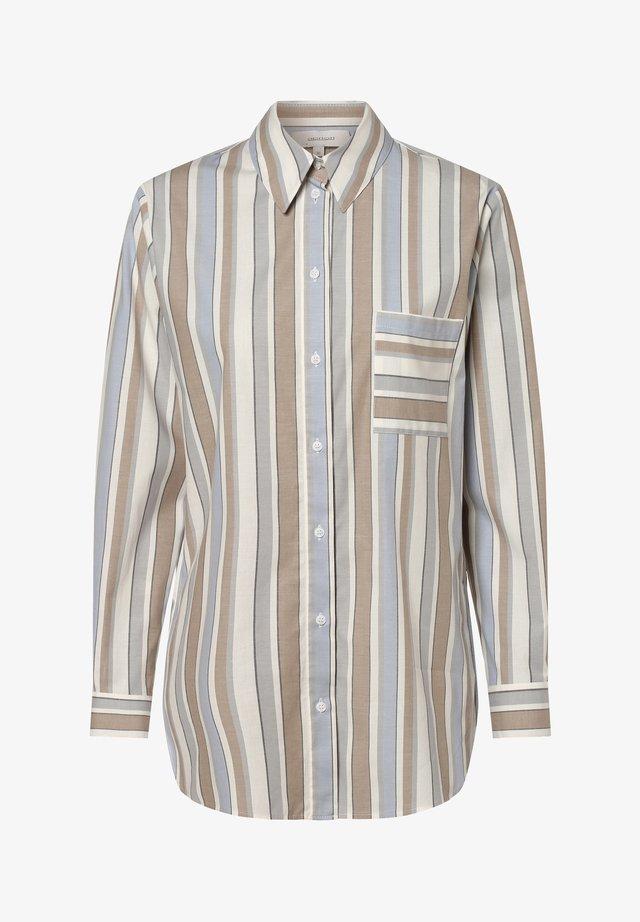 Button-down blouse - hellblau sand