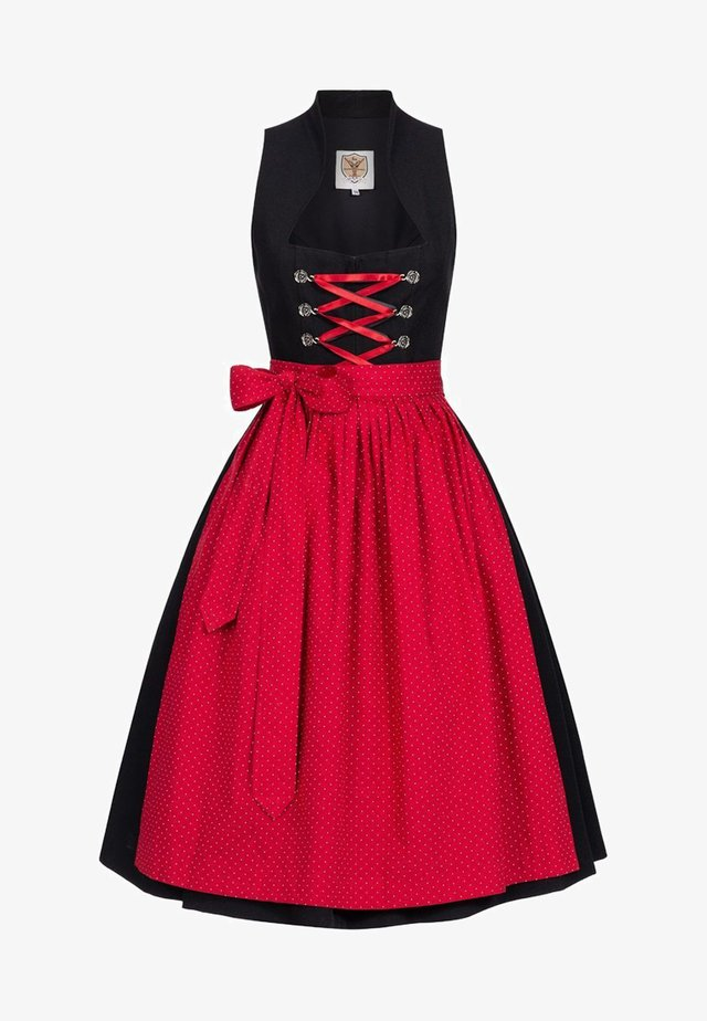 Dirndl - black/red