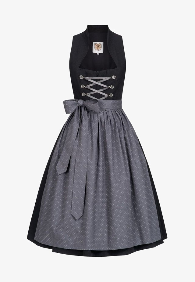 Dirndl - black/grey