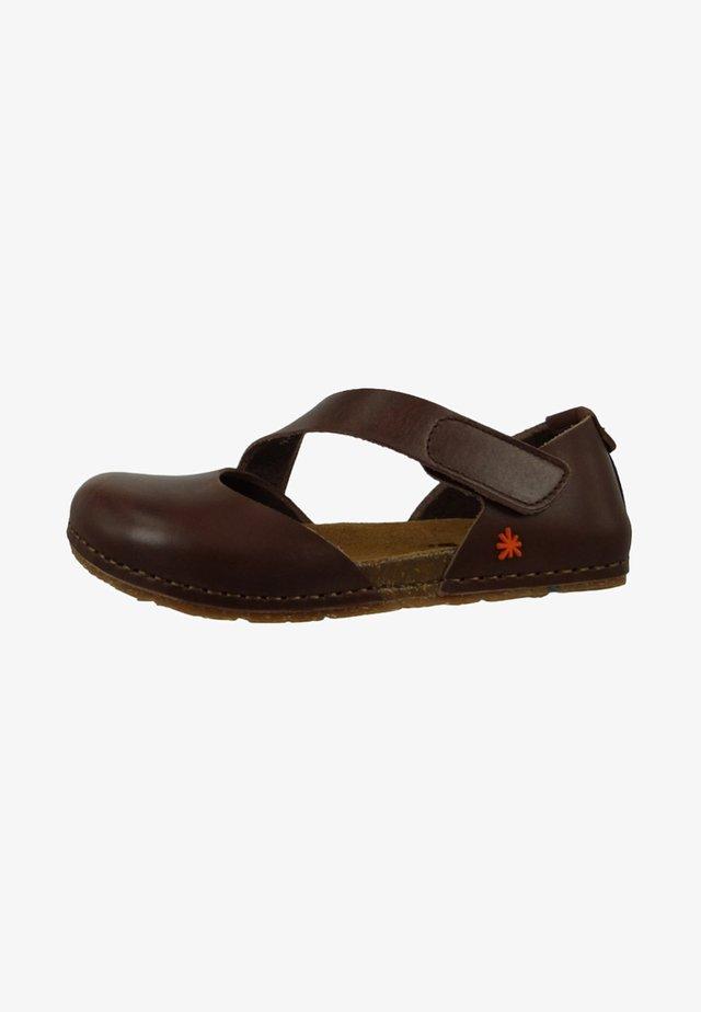 CRETA  - Ankle strap ballet pumps - brown