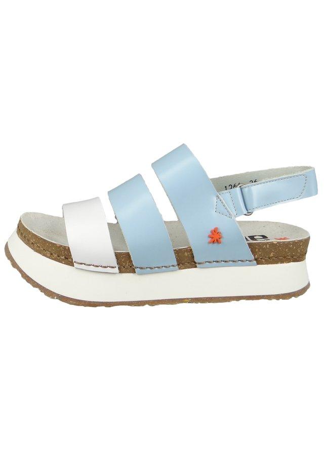 MYKONOS  - Platform sandals - sky white