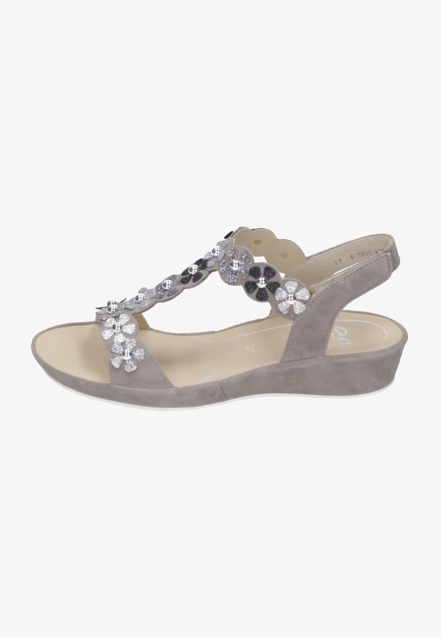 Riemensandalette - taupe/silver