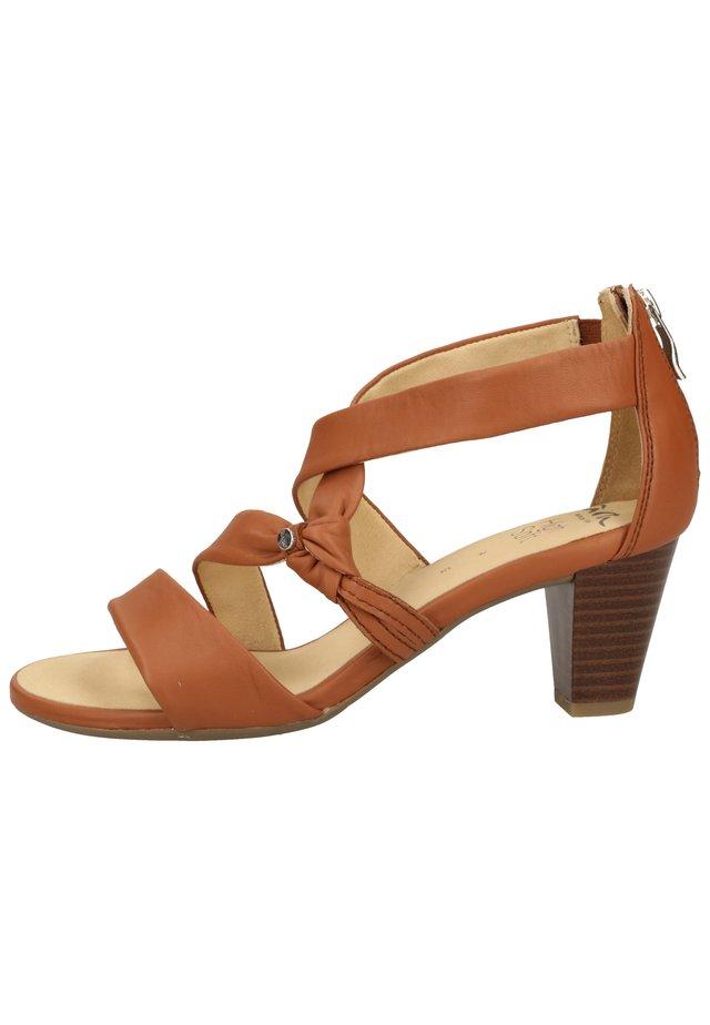 ARA - Højhælede sandaletter / Højhælede sandaler - cognac 05