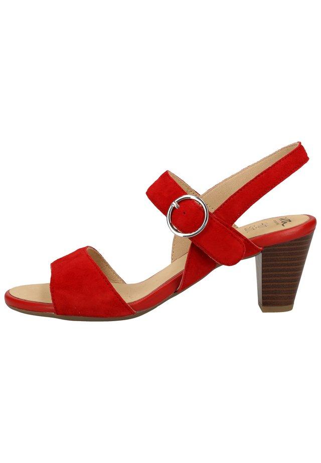 Sandalen - rot 07