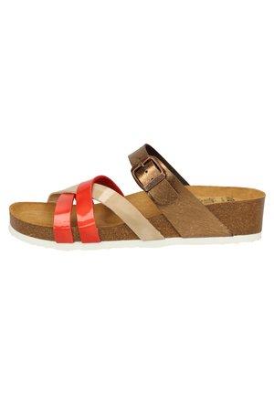 Sandaler - corallo,camel/bronce 09