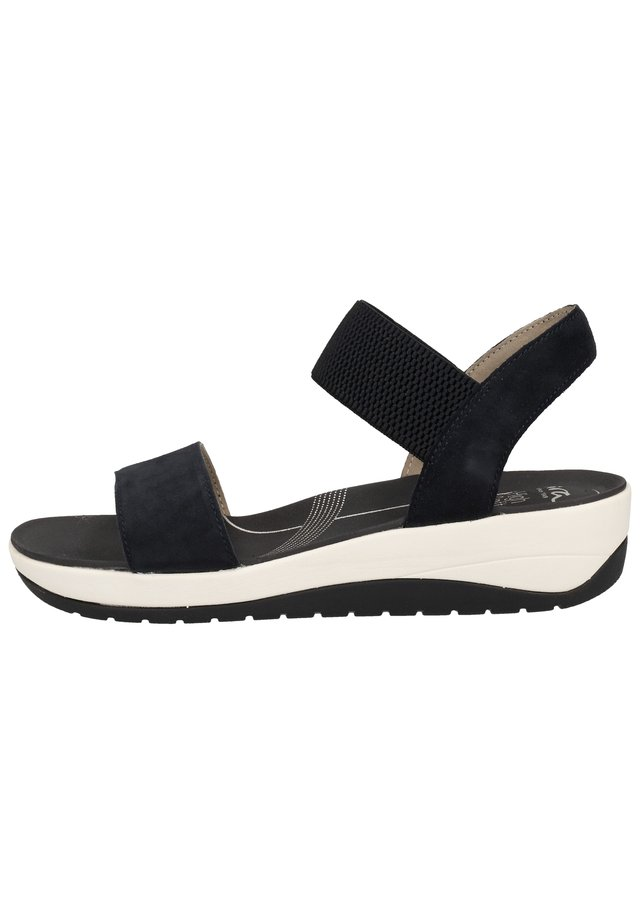 SANDALEN - Wedge sandals - blau 72