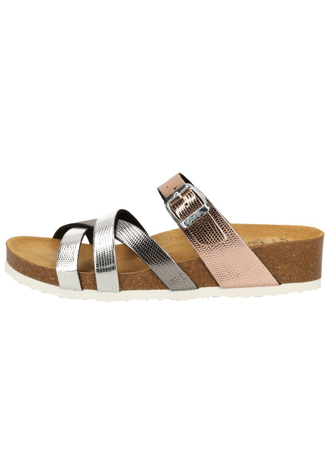 Sandals - silber,athrazit/rosegold 11