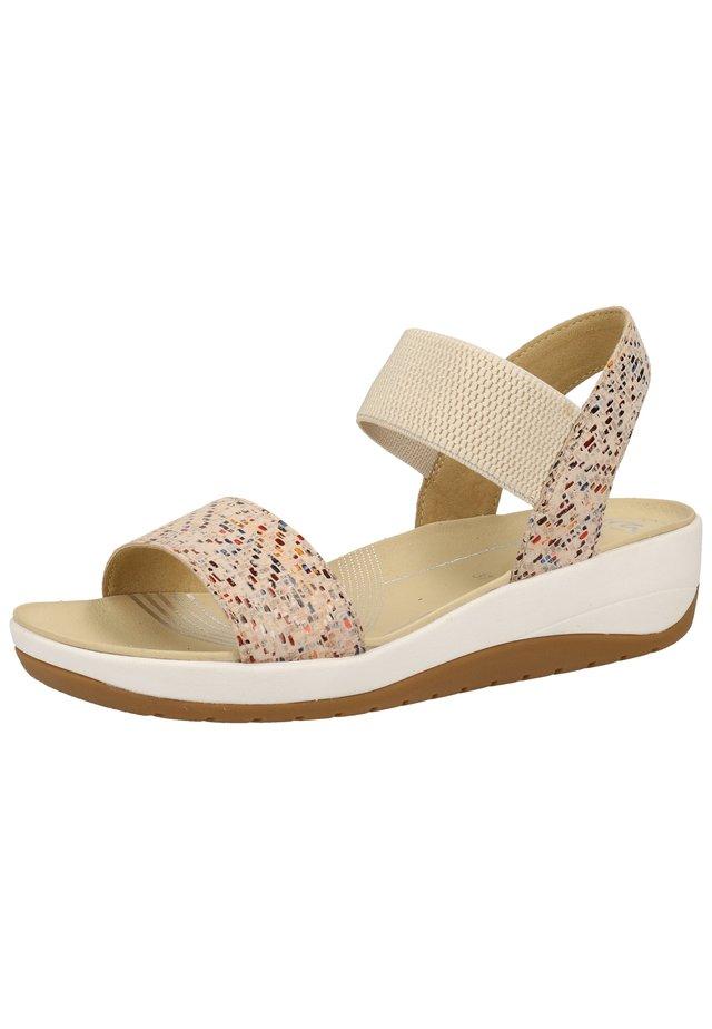 Sandalen met plateauzool - multi 77