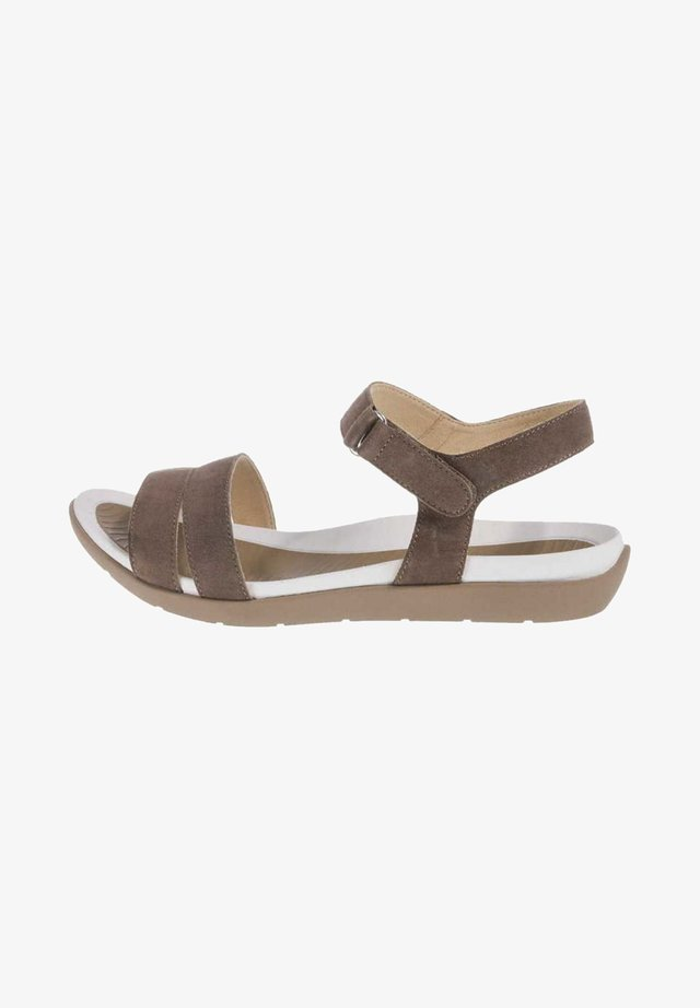 Walking sandals - hell-braun