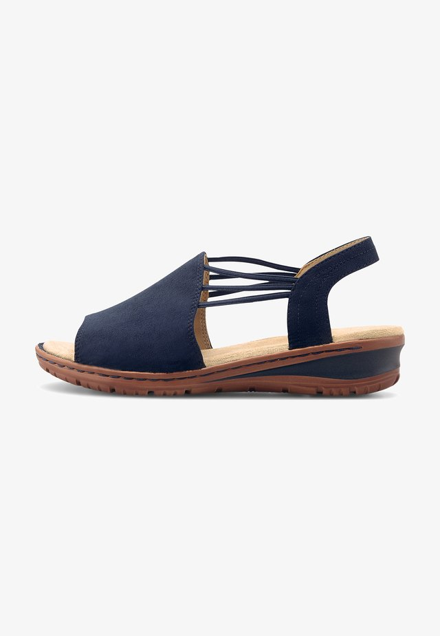 Wedge sandals - dunkelblau