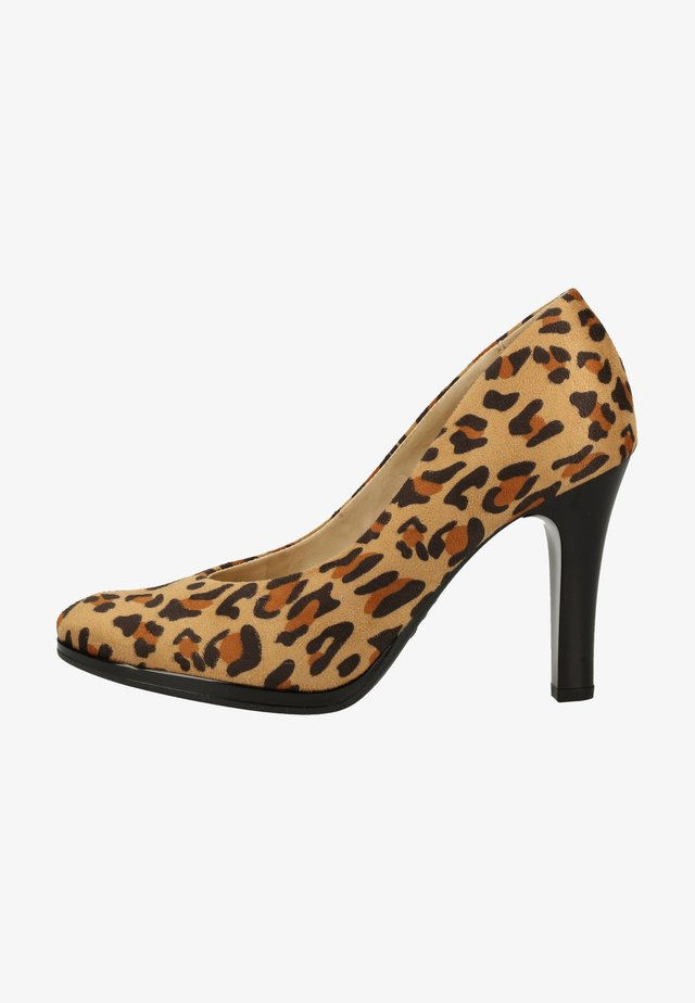 High Heel Pumps - camel