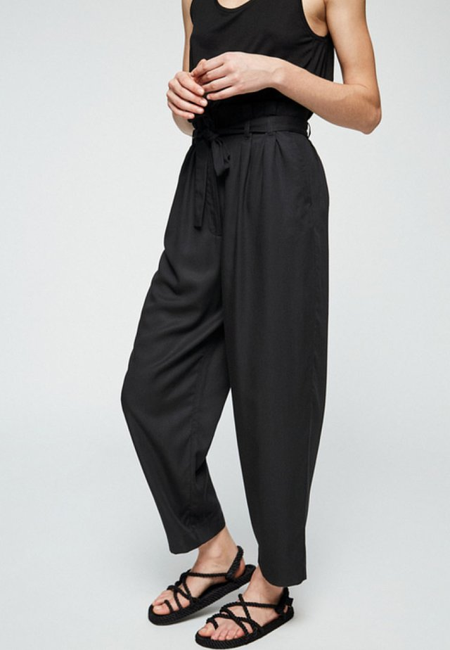 TIMEAA - Trousers - black