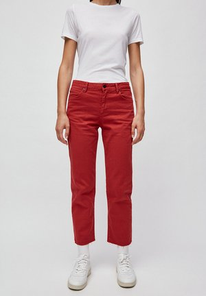 FJELLAA CROPPED - Trousers - red