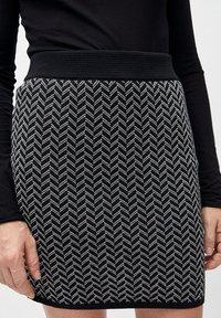 ARMEDANGELS - BEKE - A-line skirt - black/white - 3