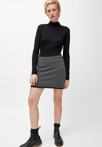 ARMEDANGELS - BEKE - A-line skirt - black/white - 1