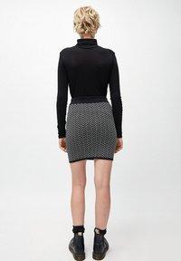 ARMEDANGELS - BEKE - A-line skirt - black/white - 2
