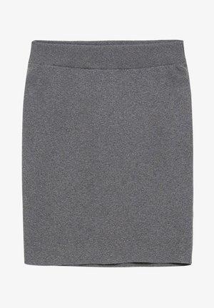 BEKAA - Pencil skirt - mid grey melange