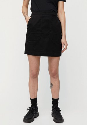 ULMAA - Denim skirt - black