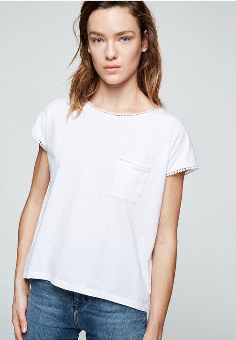ARMEDANGELS - KLARAA - Print T-shirt - white