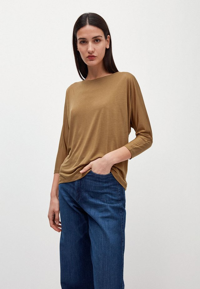 Long sleeved top - golden khaki