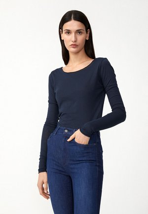 EVVAA CUSTOMIZED - Long sleeved top - navy