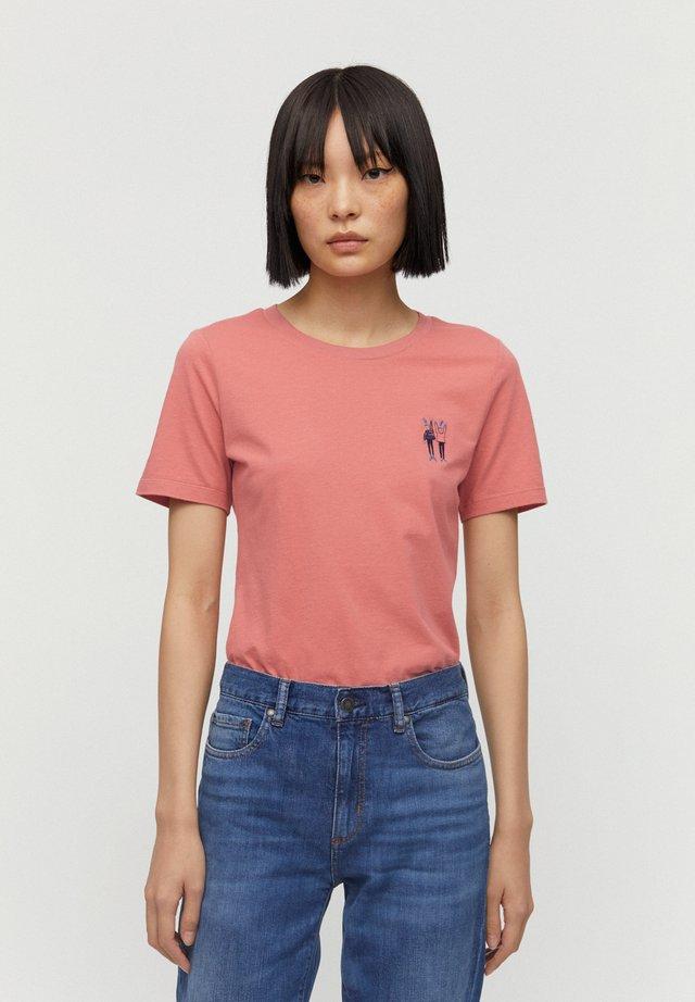 T-SHIRT AUS BIO-BAUMWOLLE LIDAA BEST FRIENDS - T-Shirt print - cinnamon rose