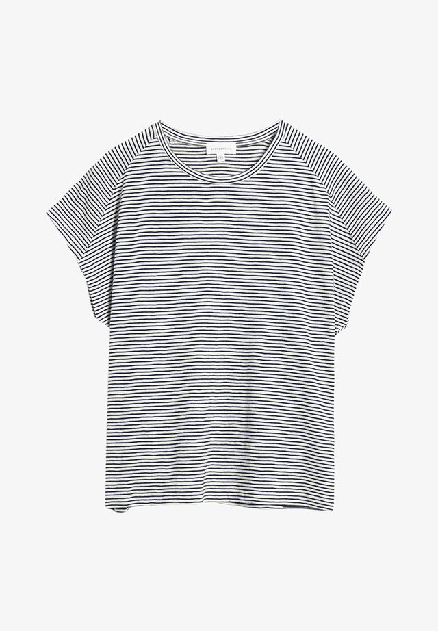 OFELIAA PRETTY - Print T-shirt - night sky-off white