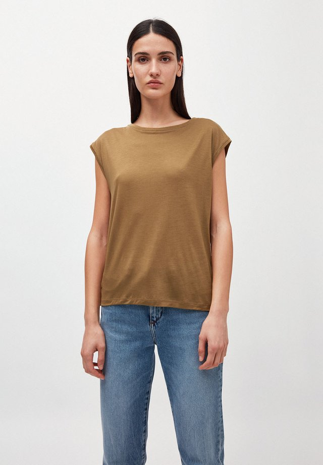 T-shirt basic - golden khaki