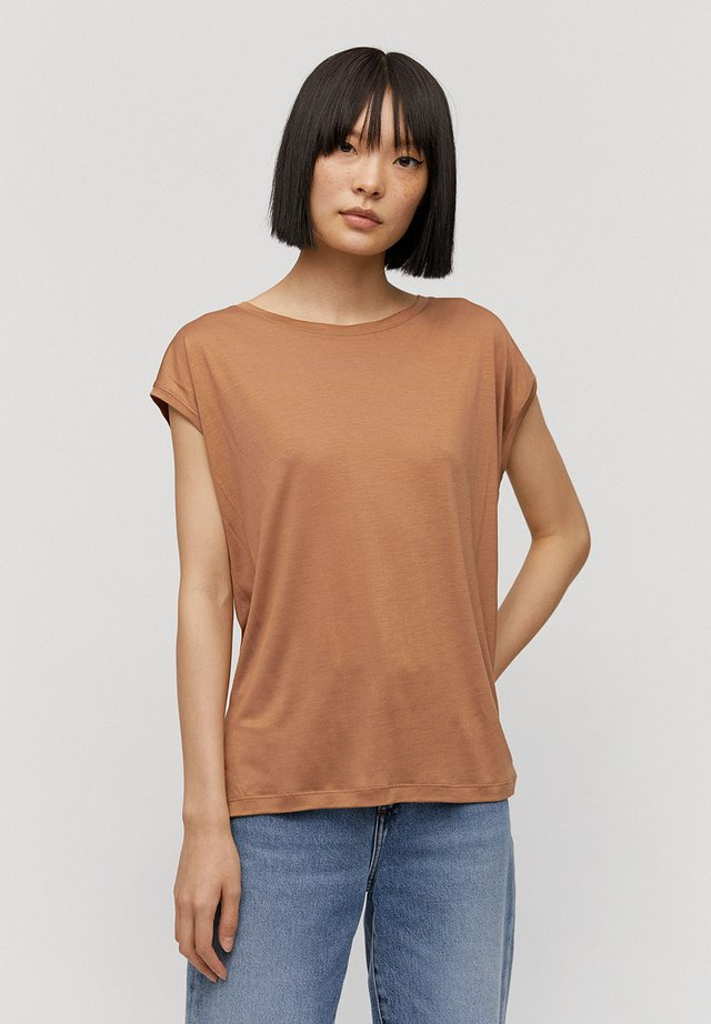 Basic T-shirt - dark caramel