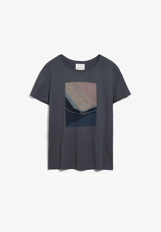 NELAA BREATH  - Print T-shirt - anthra