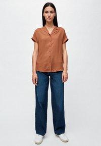 ARMEDANGELS - ILONAA - Button-down blouse - brown - 1