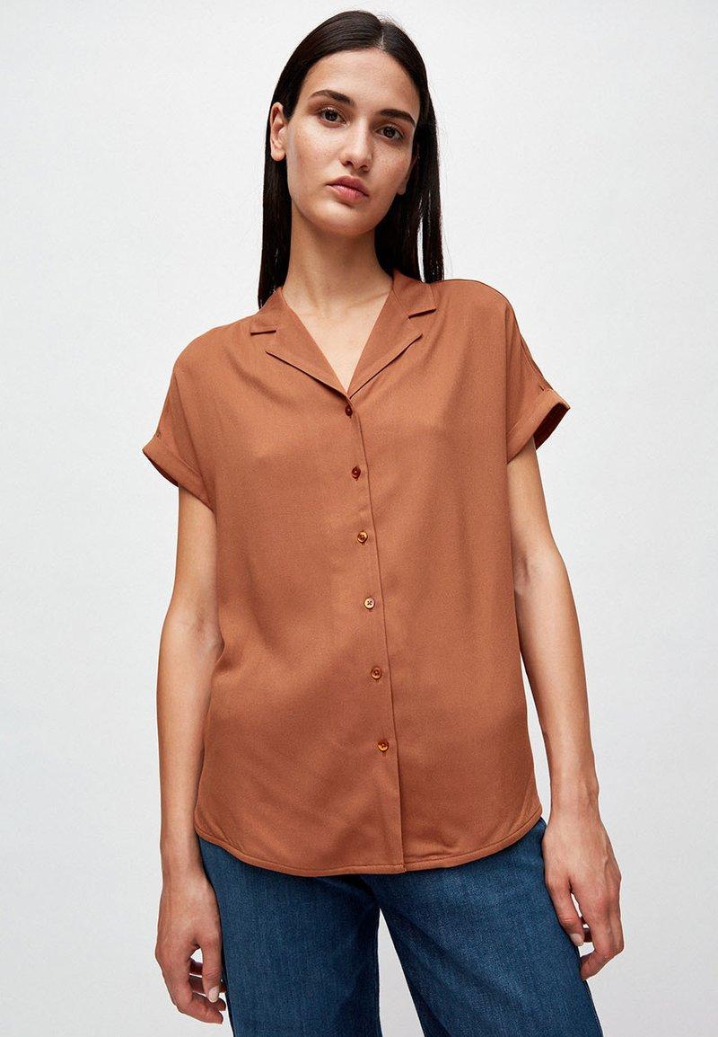 ARMEDANGELS - ILONAA - Button-down blouse - brown