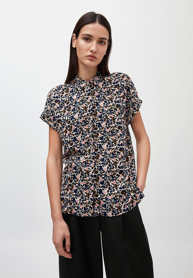 ZONJAA SPRINGTIME HAPPINESS - Button-down blouse - brown