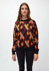 ARMEDANGELS - PEETJAA RHOMBS - Jumper - black/port wine - 0