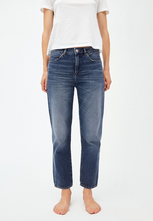 FJELLAA CROPPED - Straight leg jeans - used blue