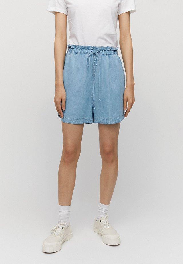 KALLAA - Denim shorts - light denim blue