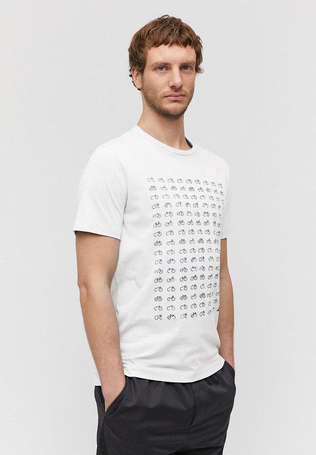 JAAMES BIKE BIKE BIKE - Print T-shirt - white