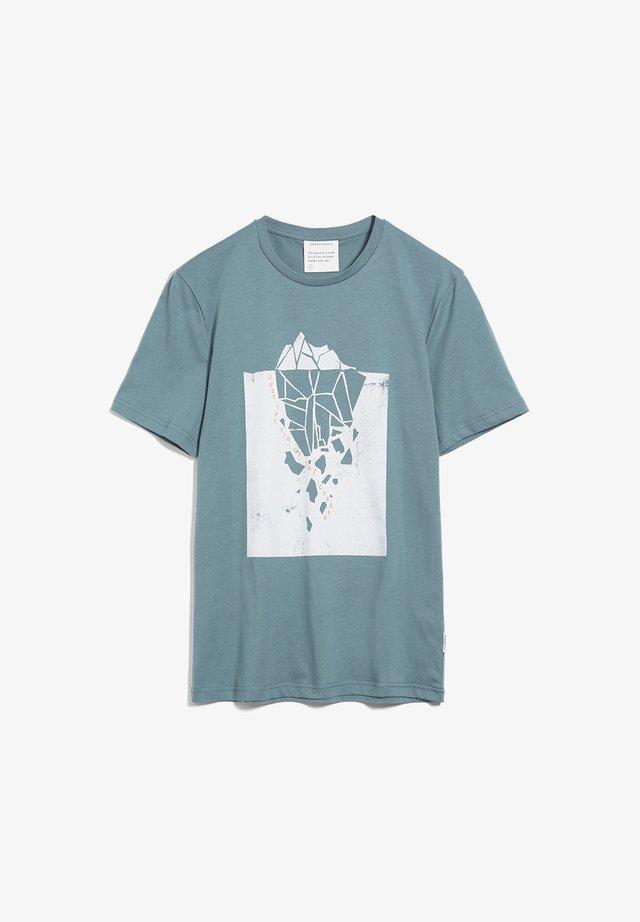 JAAMES ICEBERG TIP  - Print T-shirt - sea green